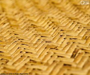 puzzel Tapijt in natuurlijke Wicker