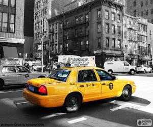 puzzel Taxi's van New York City