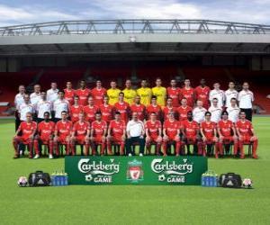 puzzel Team van Liverpool FC 2009-10