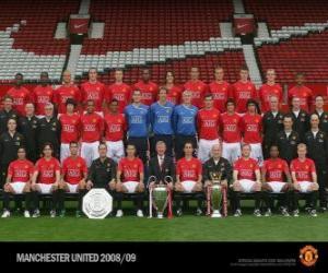 puzzel Team van Manchester United FC 2008-09