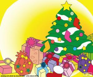 puzzel Tekening, kerstboom