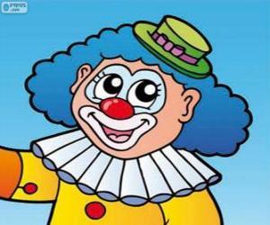 puzzel Tekening van de clown's gezicht
