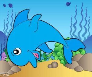 puzzel Tekening van Dolfijn