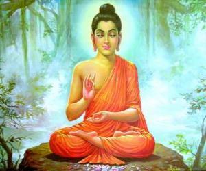 puzzel Tekening van Gautama Boeddha