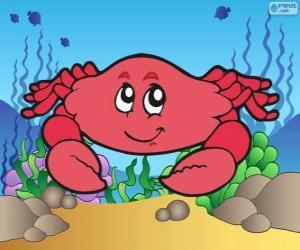 puzzel Tekening van krab