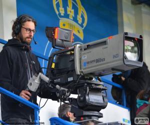 puzzel Televisie als cameraman