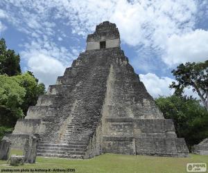 puzzel Tempel I van Tikal, Guatemala