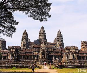 puzzel Tempel van Angkor Wat, Cambodia