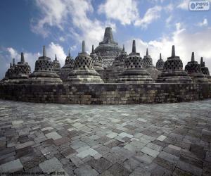 puzzel Tempel van Borobudur, Indonesië