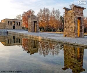 puzzel Tempel van Debod, Madrid