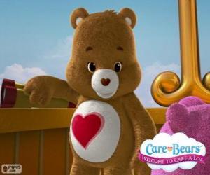 puzzel Tenderheart Beer, de kleine beer met een hart over de buik