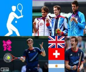 puzzel Tennis mannen enkelspel Londen 2012