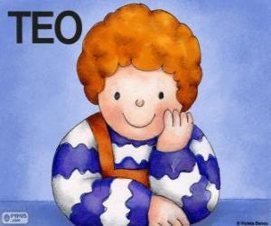 puzzel Teo, een personage dat leeft in Violeta Denou kinderboeken