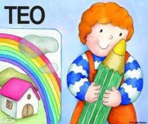 puzzel Teo en kleuren