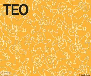 puzzel Teo in verschillende posities