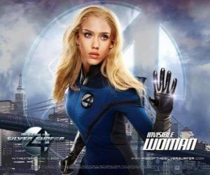 puzzel The Invisible Woman en onzichtbaar meisje in Fantastic Four
