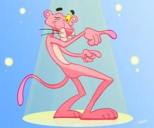 puzzel The Pink Panther dansen