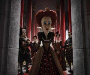 puzzel The Red Queen (Helena Bonham Carter) is de tirannieke heerser van de onderwereld.