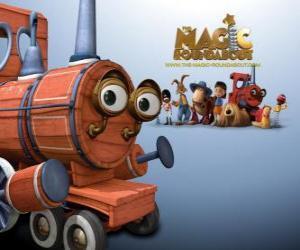 puzzel The Train, een van de magische speelgoed in de film Dougal, de Magic Roundabout