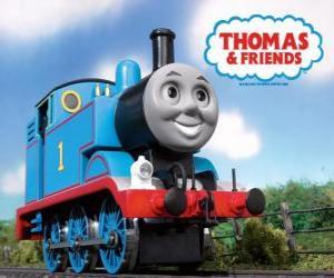 puzzel Thomas de stoomlocomotief met nummer 1