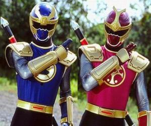 puzzel Thunder Ranger zijn een duo Crimson en Navy