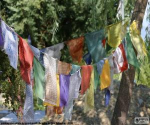 puzzel Tibetaanse gebedsvlag
