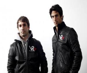 puzzel Timo Glock en Lucas di Grassi, de piloten van de Maagd Scuderia Racing