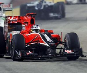 puzzel Timo Glock - Virgin - 2010 in Singapore