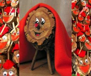 puzzel Tió de Nadal (kerststronk), een Catalaans, Occitaans en de Alto Aragon traditie