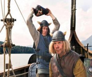 puzzel Tjure over te breken een vaas op het hoofd van Snorre