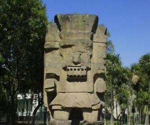 puzzel Tlatoc, de god van de regen en de vruchtbaarheid, is geworteld in de cultuur van Teootihuacan
