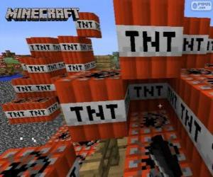 puzzel TNT explosieve blok van Minecraft