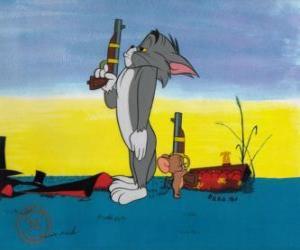puzzel Tom en Jerry in een duel