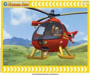 puzzel Tom Thomas met zijn helikopter Wallaby One