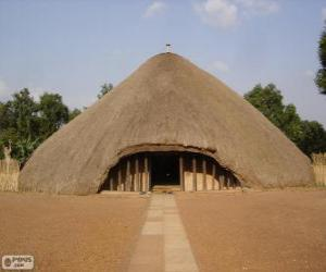 puzzel Tombes van Kasubi, Kampala, Oeganda