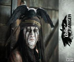 puzzel Tonto (Johnny Deep) in de film Lone Ranger