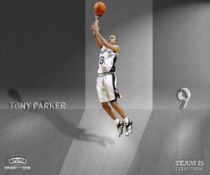 puzzel Tony Parker gaan voor een slam dunk