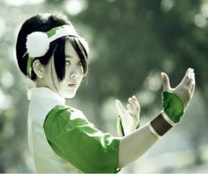 puzzel Toph Bei Fong, Toph is een meisje dat blind geboren Aang begeleidt op zijn zoektocht en hem te leren Aardesturen