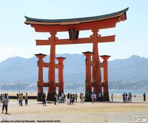 puzzel Torii van Itsukushima-schrijn, Japan