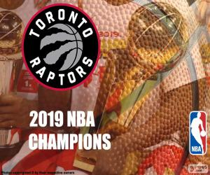 puzzel Toronto Raptors, 2019 NBA kampioenen