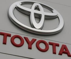 puzzel Toyota-logo. Japanse automaker