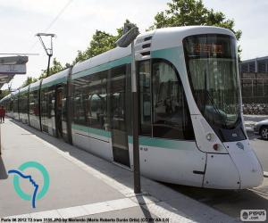 puzzel Tram in Île-de-France (Parijs)