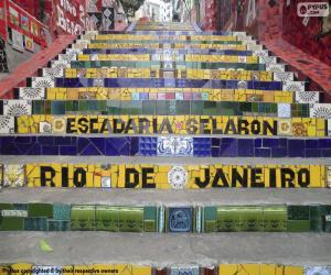 puzzel Trap van Selarón, Brazilië