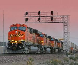 puzzel Trein bedrijf, Burlington SANTA FE (BNSF) US