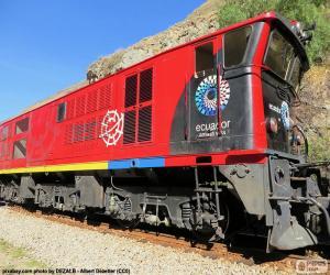 puzzel Trein van de Andes van Ecuador