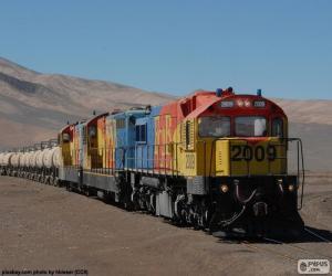 puzzel Trein van vracht, Chili