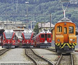 puzzel Treinen op het station