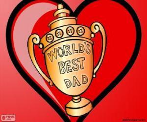 puzzel Trofee of beker voor de beste vader