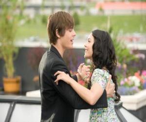 puzzel Troy Bolton (Zac Efron) dansen op Gabriella Montez (Vanessa Hudgens)