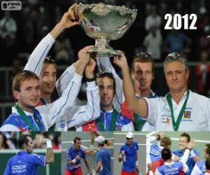 puzzel Tsjechische Republiek, kampioen van de Copa Davis 2012